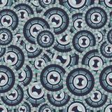 Άνευ ραφής απεικόνιση με τους κύκλους που έκαναν σε μια βάση Βικτώρια Στοκ Φωτογραφίες