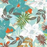 Άνευ ραφής απεικόνιση λουλουδιών ανοίξεων Στοκ Εικόνες