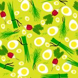 Άνευ ραφής απεικόνιση ραδικιών κήπων λαχανικών Στοκ Φωτογραφίες