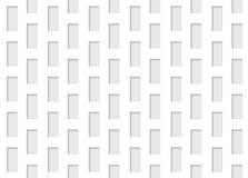 Άνευ ραφής απεικόνιση του πολυτελούς άσπρου υποβάθρου τοίχων σχεδίων μορφής ορθογωνίων Στοκ Εικόνα