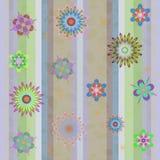 Άνευ ραφής απεικόνιση υποβάθρου με τα λουλούδια Στοκ φωτογραφία με δικαίωμα ελεύθερης χρήσης
