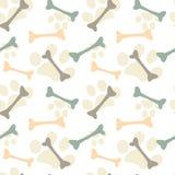Άνευ ραφής απεικόνιση υποβάθρου σχεδίων κόκκαλων και ποδιών Στοκ εικόνα με δικαίωμα ελεύθερης χρήσης