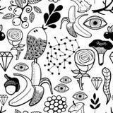 Άνευ ραφής απεικόνιση Doodle για το χρωματισμό του βιβλίου Στοκ φωτογραφία με δικαίωμα ελεύθερης χρήσης