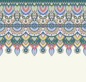 Άνευ ραφής απεικόνιση doodle, zentangle σχέδιο, ταπετσαρία, υπόβαθρο, σύσταση Ινδικό Orment Σχέδιο για να τυπώσει επάνω Στοκ Φωτογραφία