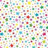 Άνευ ραφής απλό σχέδιο με τα ζωηρόχρωμα αστέρια πρότυπο άνευ ραφής Στοκ φωτογραφία με δικαίωμα ελεύθερης χρήσης