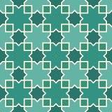 Άνευ ραφής αραβική διακόσμηση Μαροκινό μοτίβο αστεριών και σταυρών Παραδοσιακό σχέδιο Arabesque με το κεραμίδι μωσαϊκών Απεικόνιση αποθεμάτων