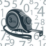 Άνευ ραφής αριθμοί σχεδίων ρουλετών Στοκ εικόνα με δικαίωμα ελεύθερης χρήσης