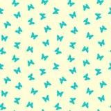 Άνευ ραφής αρκετά μπλε σχέδιο πεταλούδων Στοκ Φωτογραφίες