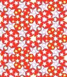 άνευ ραφής αστέρια προτύπων Στοκ φωτογραφία με δικαίωμα ελεύθερης χρήσης