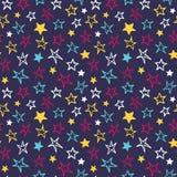 άνευ ραφής αστέρια προτύπων Στοκ φωτογραφίες με δικαίωμα ελεύθερης χρήσης