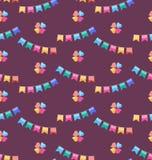 Άνευ ραφής αστεία σύσταση με τα ζωηρόχρωμα υφάσματα για τις διακοπές απεικόνιση αποθεμάτων