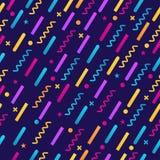 Άνευ ραφής, αφαιρέστε γεωμετρικό, αναδρομικός, σχέδιο της Μέμφιδας με τις διαφορετικές χρωματισμένες μορφές που απομονώνονται στο Στοκ φωτογραφίες με δικαίωμα ελεύθερης χρήσης
