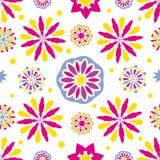 Άνευ ραφής αφηρημένες floral συστάσεις επικεράμωσης Στοκ εικόνα με δικαίωμα ελεύθερης χρήσης