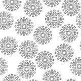 Άνευ ραφής αφηρημένη εικόνα Μαύρη απεικόνιση γραμμών Στοκ Φωτογραφία