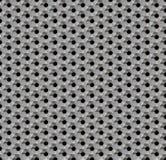 Άνευ ραφής αφηρημένη μεταλλική κηρήθρα υποβάθρου - hexagons με τις τρύπες Στοκ φωτογραφία με δικαίωμα ελεύθερης χρήσης