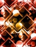 Άνευ ραφής αφηρημένη σύσταση με τους κύκλους, σπινθήρες, ρόμβος διανυσματική απεικόνιση