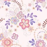 Άνευ ραφής αφηρημένη floral ανασκόπηση Στοκ Εικόνες