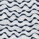 Άνευ ραφής αφηρημένη hand-drawn σύσταση κυμάτων Αντίγραφο εκείνο το τετράγωνο στο τ Στοκ Εικόνες