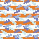 Άνευ ραφής αφηρημένοι μπλε αριθμοί viola υποβάθρου για την πορτοκαλιά απεικόνιση λουρίδων Στοκ εικόνες με δικαίωμα ελεύθερης χρήσης