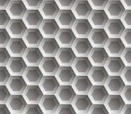 Άνευ ραφής αφηρημένο κυψελωτό υπόβαθρο - hexagons Χρώμα γκρίζο με τις σκιές διανυσματική απεικόνιση