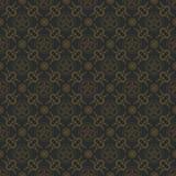 Άνευ ραφής αφηρημένο μαύρο χρυσό floral σχέδιο για το σχέδιο Στοκ εικόνα με δικαίωμα ελεύθερης χρήσης