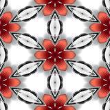 Άνευ ραφής αφηρημένο μεταλλικό ασημένιο κόκκινο σύσταση ή υπόβαθρο χρωμίου Στοκ Εικόνα