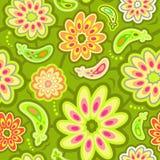 Άνευ ραφής αφηρημένο σχέδιο λουλουδιών Στοκ Εικόνα