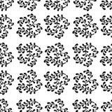 Άνευ ραφής αφηρημένο σχέδιο των μαύρων κλάδων σε ένα άσπρο backgroun Στοκ εικόνες με δικαίωμα ελεύθερης χρήσης