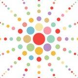 Άνευ ραφής αφηρημένο υπόβαθρο λουλουδιών σημείων κρητιδογραφιών vec Στοκ εικόνες με δικαίωμα ελεύθερης χρήσης