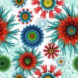 Άνευ ραφής αφηρημένο υπόβαθρο σχεδίων αστεριών και λουλουδιών κοραλλιών Στοκ εικόνα με δικαίωμα ελεύθερης χρήσης
