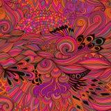 Άνευ ραφής αφηρημένο υπόβαθρο σχεδίων με τη ζωηρόχρωμη διακόσμηση Το χέρι σύρει την απεικόνιση, που χρωματίζει το βιβλίο zentangl Στοκ Εικόνα