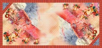 Άνευ ραφής αφηρημένο ψηφιακό υπόβαθρο με τα λουλούδια διανυσματική απεικόνιση