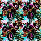 Άνευ ραφής αφηρημένο floral συρμένο χέρι σχέδιο μελανιού διανυσματική απεικόνιση