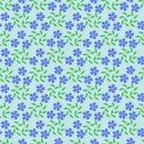 Άνευ ραφής αφηρημένο floral σχέδιο στα μπλε, πράσινα χρώματα Διανυσματική ανασκόπηση Άνευ ραφής υπόβαθρο με τα αφηρημένα χρώματα Στοκ Φωτογραφίες