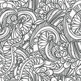 Άνευ ραφής αφηρημένο hand-drawn αναδρομικό σχέδιο κυμάτων, κυματιστό υπόβαθρο Στοκ Φωτογραφίες