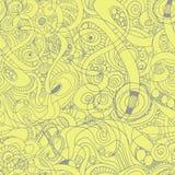 Άνευ ραφής αφηρημένο hand-drawn αναδρομικό σχέδιο κυμάτων, κυματιστό Στοκ εικόνες με δικαίωμα ελεύθερης χρήσης