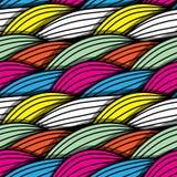 Άνευ ραφής αφηρημένο hand-drawn σχέδιο κυμάτων απεικόνιση αποθεμάτων