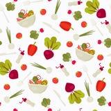 άνευ ραφής λαχανικά προτύπων απεικόνιση αποθεμάτων
