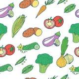 άνευ ραφής λαχανικά προτύπων Στοκ εικόνα με δικαίωμα ελεύθερης χρήσης