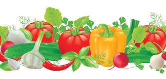 Άνευ ραφής λαχανικά σχεδίων διανυσματική απεικόνιση