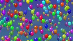 Άνευ ραφής βίντεο βρόχων μπαλονιών κόμματος ελεύθερη απεικόνιση δικαιώματος