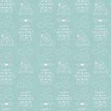 άνευ ραφής βαλεντίνος ημέρ&a ποτών απεικόνισης διανυσματικό τύλιγμα θέματος εγγράφου αναδρομικό Περιγραμμένα εικονίδια βακκινίων Στοκ Φωτογραφίες