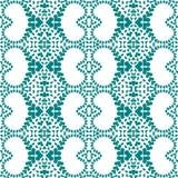 Άνευ ραφής βικτοριανό damask καρδιών υπόβαθρο Στοκ Εικόνες