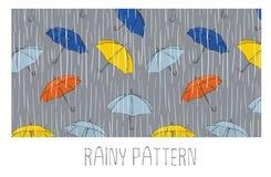 Άνευ ραφής βροχερό σχέδιο Στοκ φωτογραφία με δικαίωμα ελεύθερης χρήσης