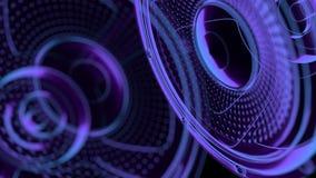 Άνευ ραφής βρόχος κινήσεων vj μουσικός - ομιλητές νέου τρισδιάστατος δώστε διανυσματική απεικόνιση