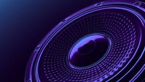 Άνευ ραφής βρόχος κινήσεων vj μουσικός - ομιλητής νέου στη γωνία τρισδιάστατος δώστε διανυσματική απεικόνιση