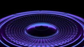 Άνευ ραφής βρόχος κινήσεων vj μουσικός - ομιλητής νέου τρισδιάστατος δώστε διανυσματική απεικόνιση