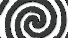Άνευ ραφής βρόχος κύκλων hypno κινούμενων σχεδίων απόθεμα βίντεο