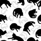Άνευ ραφής γάτες σχεδίων Στοκ φωτογραφία με δικαίωμα ελεύθερης χρήσης