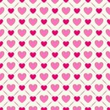Άνευ ραφής γεωμετρικό πρότυπο με τις καρδιές διάνυσμα Στοκ Εικόνα